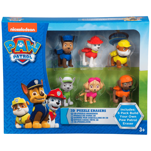 Paw Patrol Puzzle Erasers