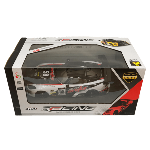 Radio Control Drift Racing Car - Black and White