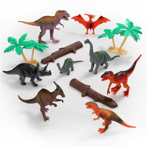 Large 18 DINOSAUR ANIMAL TUB Action Figure Childrens Role Play Mat Model Kids