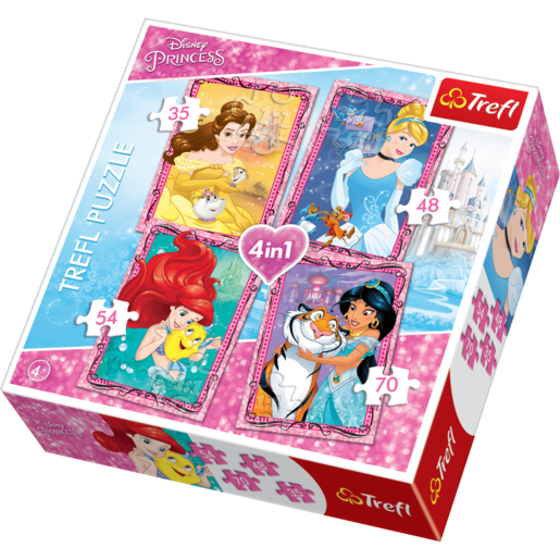 Disney Princess 4-in-1 Puzzles (35, 48, 54, 70 Pieces)