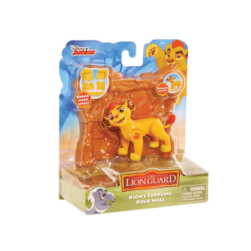 Disney The Lion Guard Kion Figure with Toppling Rock Wall