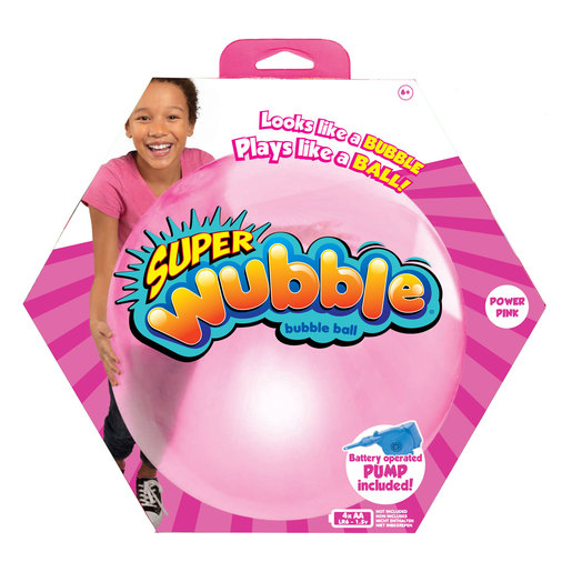 Wubble Bubble with Pump - Pink