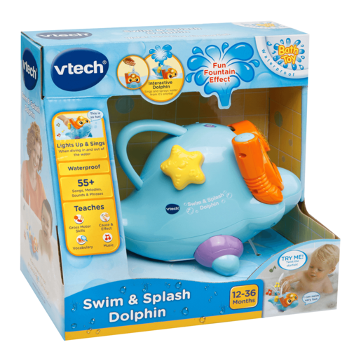 VTech Swim & Splash Dolphin Bath Toy