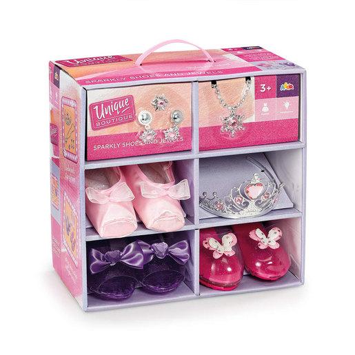 Unique Boutique Sparkly Shoes & Jewels Dress Up Set