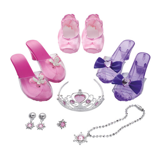 Unique Boutique Sparkly Shoes & Jewels Dress Up Set