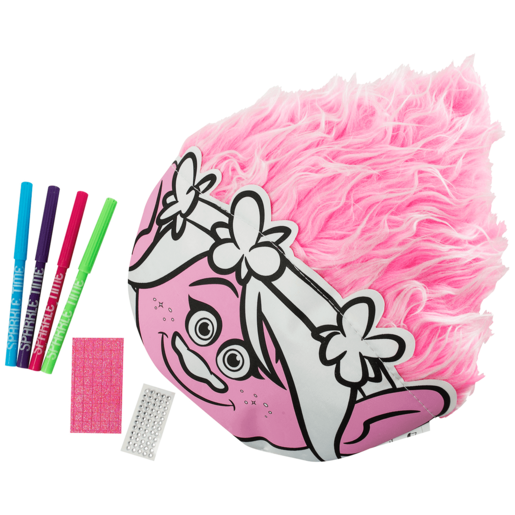 Trolls Colour Your Own Head Cushion with Hair