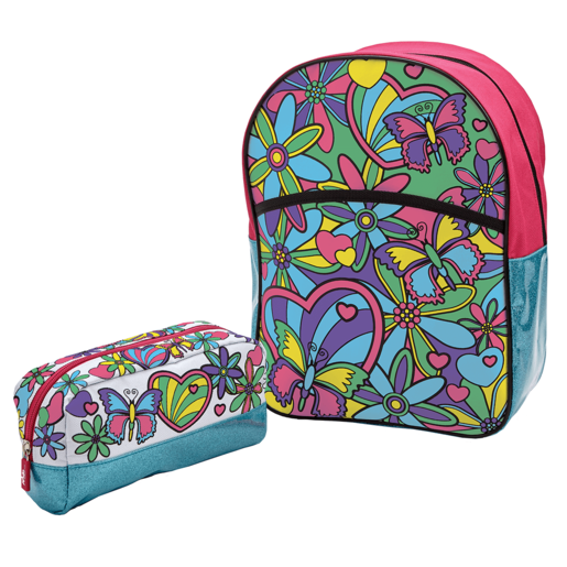 Out To Impress Colour Your Own Backpack & Pencil Case