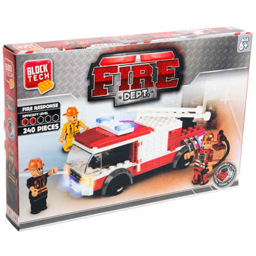 Block Tech Fire Dept Building Set – 240pc