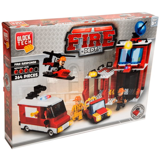 Block Tech Fire Dept - 264 Pieces