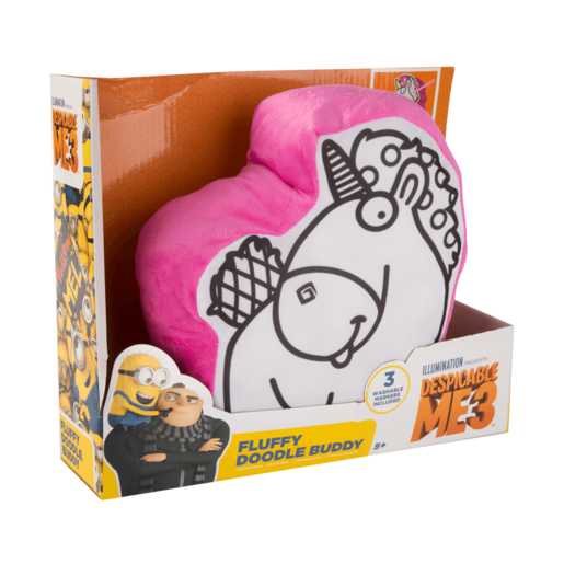 Despicable me 3 Colour Your Own - Fluffy Doodle Buddy Cushion