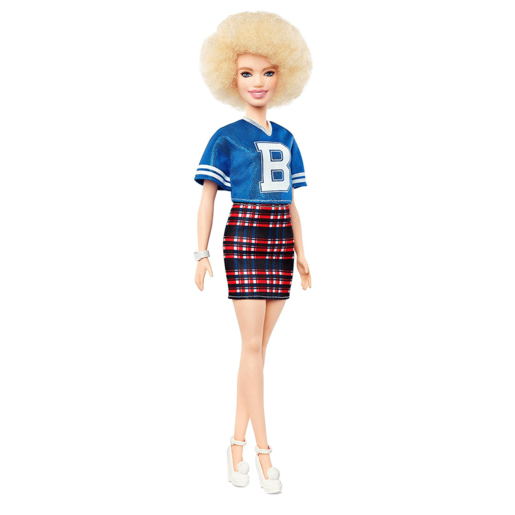 Barbie Fashionistas Doll - Jersey Play Skirt with Blonde Afro Hair