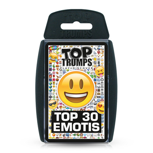 Top 30 Emotis Top Trumps Card Game