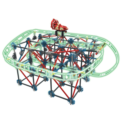 KNEX Thrill Rides Web Weaver Roller Coaster Building Set
