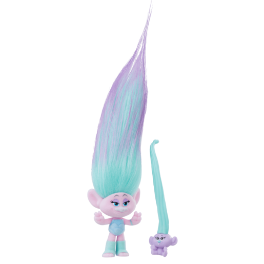 Dream Works Trolls Hair Raising Troll and Baby - Satin