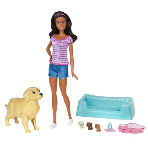Barbie Newborn Pups - Brunette Barbie