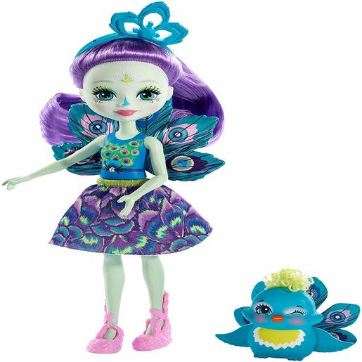 Enchantimals 15cm Doll - Patter Peacock and Flap