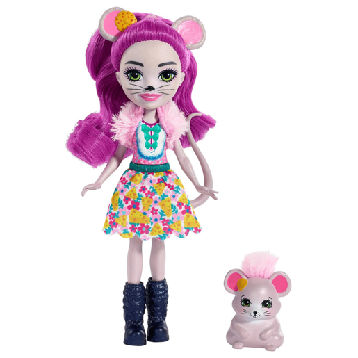 Enchantimals 15cm Doll - Mayla Mouse and Fondue