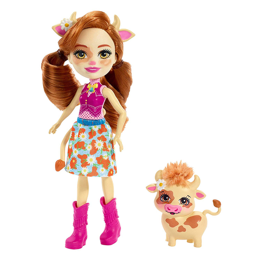 Enchantimals 15cm Doll - Cailey Cow and Curdle
