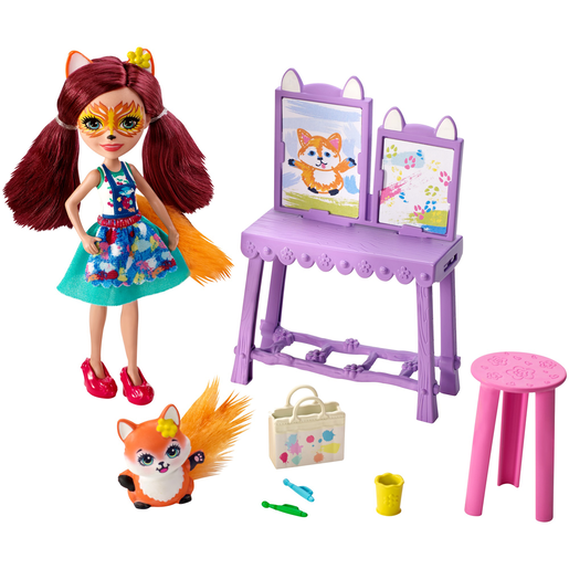 Enchantimals Art Studio Playset With Felicity Fox Doll