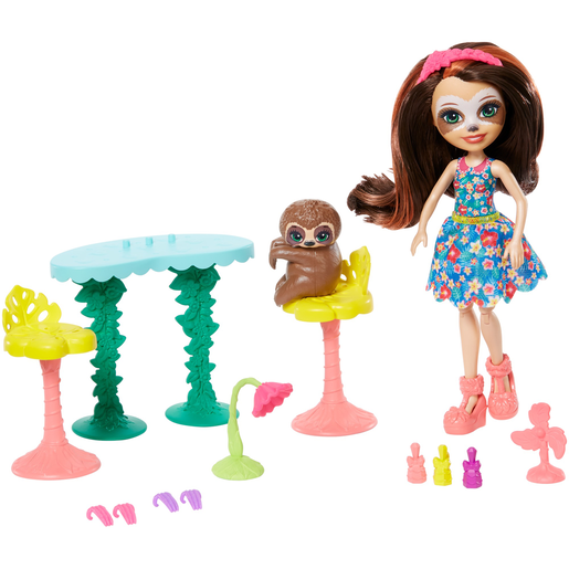 Enchantimals Slow-Down Salon With Sela Sloth Doll