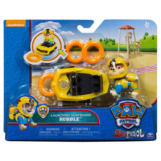 Paw Patrol Sea Patrol Launching Surfboard - Rubble