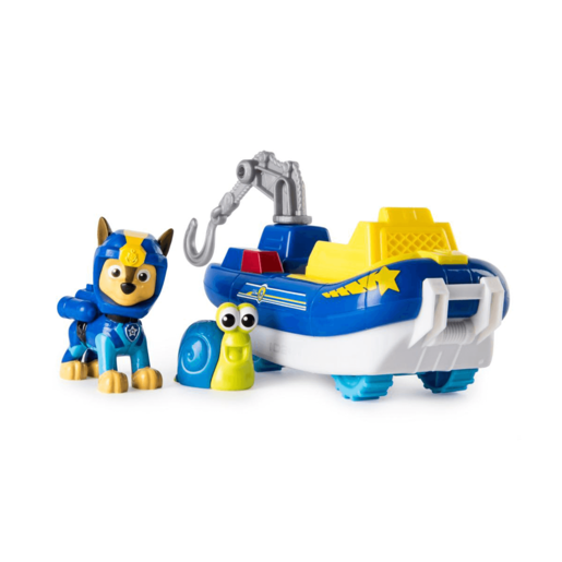 Paw Patrol Sea Patrol - Chase's Transforming Vehicle and Snail Sea Friend