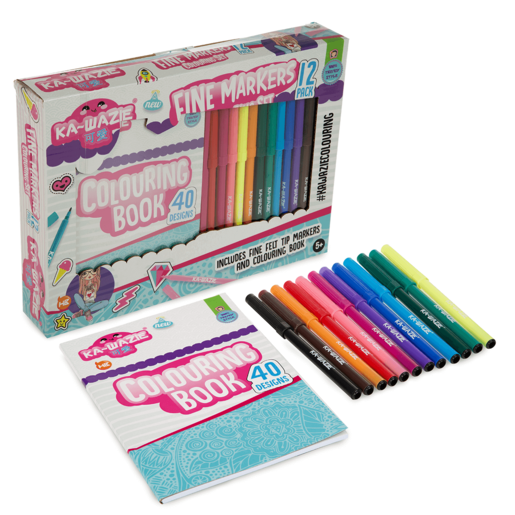 Ka Wazie Fine Marker Colouring Set