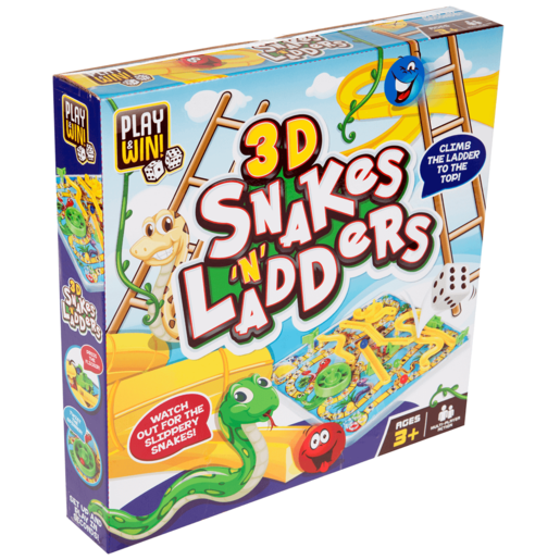 Play & Win 3D Snakes n Ladders Game