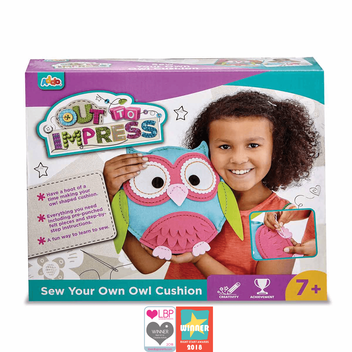 Made in UK Crafty Kit Sew Your Own Kit Choose from Owl or Three Felt Puppies