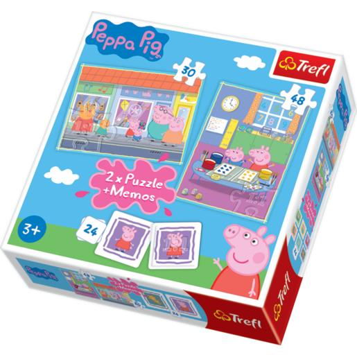 TREFL Peppa Pig 2 x 24 Piece Puzzle Memos from TheToyShop