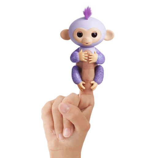 Fingerlings Glitter Baby Monkey- Purple