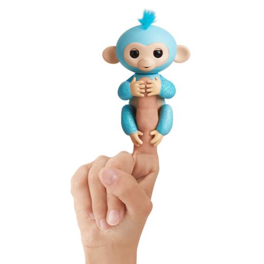 Image of Fingerlings Glitter Baby Monkey- Blue