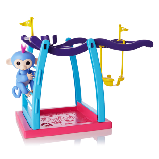 Fingerlings Monkey Bar Playset with Blue Fingerling