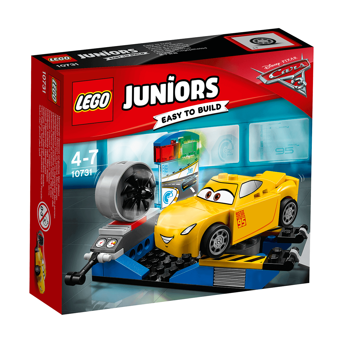 Lego Juniors Disney Pixar Cars 3 Cruz Ramirez Race Simulator 10731 The Entertainer