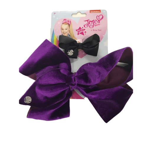 JoJo bow 2 pack with standard size velvet bow Orchid