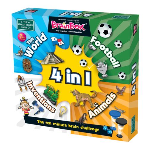 BrainBox 4 in 1 Ten Minute Brain Challenge Game