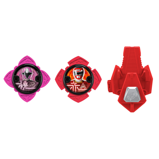 Power Ranger Ninja Steel 2 x Stars and Launcher - Red and Purple