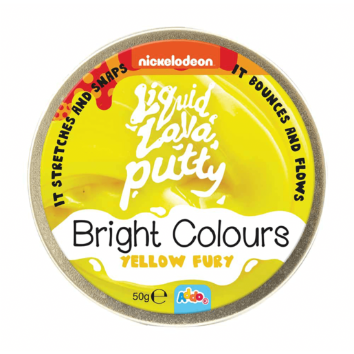 Nickelodeon Liquid Lava Putty Bright Colours Yellow Fury