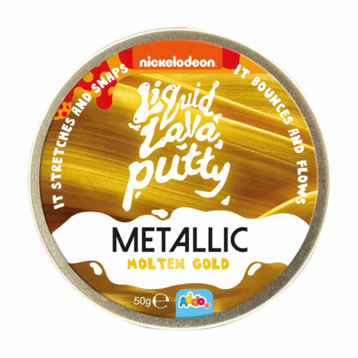 Nickelodeon Liquid Lava Putty Metallic Molten Gold