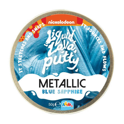 Nickelodeon Liquid Lava Putty Metallic Blue Sapphire