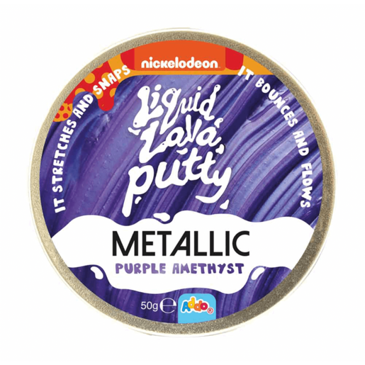 Nickelodeon Liquid Lava Putty Metallic Purple Amethyst