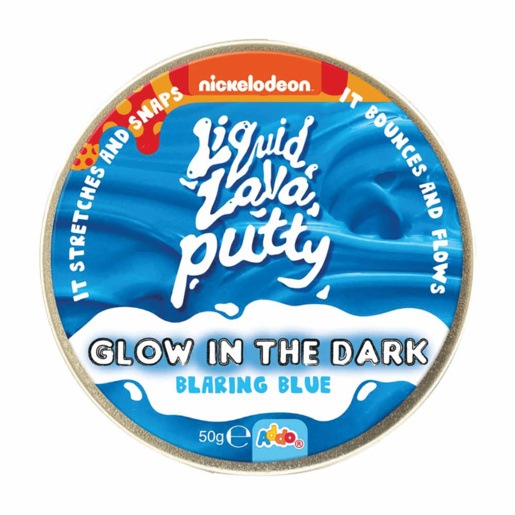 Nickelodeon Liquid Lava Putty Glow in the Dark Blaring Blue
