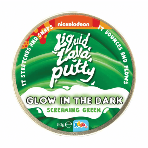 Nickelodeon Liquid Lava Putty Glow in the Dark Screaming Green