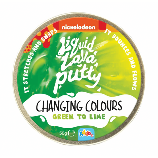 Nickelodeon Liquid Lava Putty Changing Colour Green to Lime