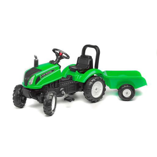 Falk Master Ride on Tractor and Trailer - Green from TheToyShop