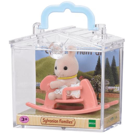 Sylvanian Families Baby Carry Case - Rabbit on Rocking Horse