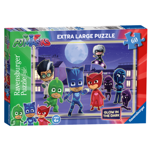 Ravensburger PJ Masks XXL Glow in the Dark Jigsaw Puzzle 60 Piece