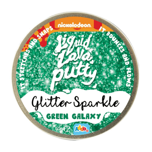 Nickelodeon Liquid Lava Putty Glitter Green Galaxy
