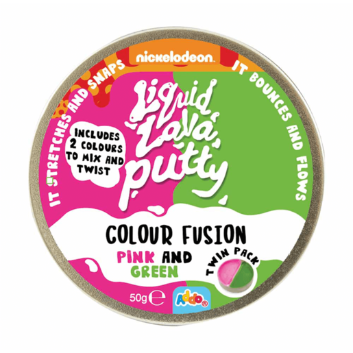 Nickelodeon Liquid Lava Putty Colour Fusion Pink & Green