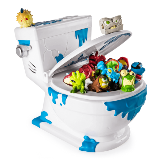 Flush Force – Series 1 - Collect-A-Bowl Stash 'n' Store Case for 4 Exclusive Flushie Figures from TheToyShop